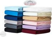 Silky Jersey - Zachte Jersey Hoeslakens 100% Katoen - 180x200x30 Wit