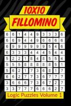 10x10 Fillomino Logic Puzzles Volume 1: 180 Medium to Hard Brain Teaser Puzzles for Adults and Kids