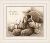 """borduurpakket PN0163748 """"knuffelbeer"""", geboorte"""
