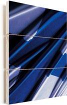 Close-up van de vlag van Finland Vurenhout met planken 60x80 cm - Foto print op Hout (Wanddecoratie)