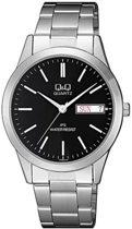 Q&Q heren horloge met dag en datum aanduiding CD06J212