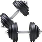 ScSPORTS® 60 kg Halterset Dumbbellset gietijzer