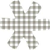 Papillon panbeschermer 38 cm ruit/lijn Grijs-Set 3 stuks-polyester