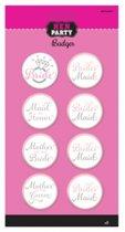 8 vrijgezellenfeest buttons Hen Party
