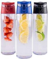 Fruitwater - Fruit Filter Fles met drinkdop - Fruit Infuser - BPA Vrij- Fruitfilter Sport drinkFles -Milieuvriendelijke Sportfles - Draagbare drinkfles - meerdere varianten