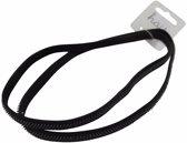 Zwarte sporters elastieken haarbandjes
