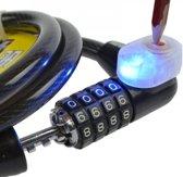 kabelslot cijferslot met led verlichting fietsslot scooterslot bootslot fiets kabel staalkabel slot 100cm