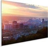 Wolken boven skyline van Montreal in Canada Plexiglas 180x120 cm - Foto print op Glas (Plexiglas wanddecoratie) XXL / Groot formaat!