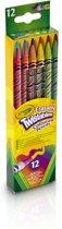 Crayola 12 Draaikleurpotloden met gum
