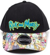 Rick and Morty - Sublimated Print Curved Bill Cap / Pet