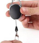 Sleutelhanger met koord - Uittrekbare sleutelhanger - Sleutelhanger voor pasjes