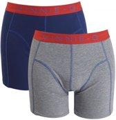 Vinnie-G boxershorts Flame Blue Grey 2-pack M