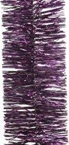 Paarse kerstversiering folie slinger - 270 cm - kerstslinger
