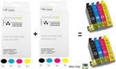 Improducts® Inkt cartridges - Alternatief Epson 16XL / 16 XL  8 stuks
