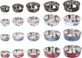Bowl bella paw motive red, 23cm stainless steel