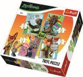 4 in 1 - Portretten/ Disney Zootopia Puzzel