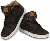Cash Money Heren Schoenen - Heren Sneaker High - Vintage Choco - Maten: 43