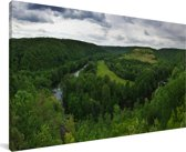 Panorama van het Nationaal park Podyjí in Tsjechië Canvas 40x20 cm - Foto print op Canvas schilderij (Wanddecoratie woonkamer / slaapkamer)