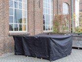 MaximaVida zwarte beschermhoes middelgrote tuinset 200 cm x 200 cm x 90 cm - Zware 600 gr/m2 uitvoer
