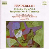 Penderecki: Orches.Works Vol.1