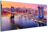 Brooklyn Bridge New York Aluminium 120x80 cm - Foto print op Aluminium (metaal wanddecoratie)