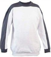 Assent schilders/stucadoors sweater Obera wit/grijs maat M