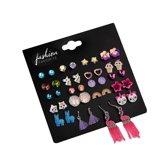 Fashion Favorite Stud Oorbellen | Candy Color | Bijoux | Set 20 Paar