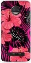 Motorola Z2 Force Hoesje Tropical Flowers