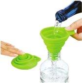 Opvouwbare Siliconen Trechter - Inklapbaar handig keuken hulp tool - KELERINO. - Groen