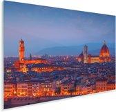De Dom van Florence oranje gekleurd door de zonsondergang in Italië Plexiglas 90x60 cm - Foto print op Glas (Plexiglas wanddecoratie)