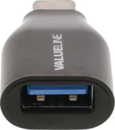 Valueline VLCP60915B kabeladapter/verloopstukje USB-C USB-A Zwart
