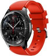 Bandje Voor de Samsung Gear S3 Classic / Frontier - Siliconen Armband / Polsband / Strap Band / Sportbandje - Rood Watchbands-shop.nl