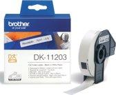 Label etiket brother dk-11203 17 mm x 87 mm wit