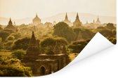 Verschillende pagodes in Bagan Poster 90x60 cm - Foto print op Poster (wanddecoratie woonkamer / slaapkamer) / Aziatische steden Poster