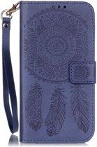 Shop4 - Samsung Galaxy S7 Edge Hoesje - Wallet Case Dromenvanger Donker Blauw