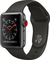 Apple Watch 3 GPS + Cell 38mm space grijs alu case gr. sp.band