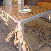 VOORDEELPAK: 5 Pakjes van Doorzichtige vooraf gesneden tafellakens, 3 m - verpakking van 5 tafellakens