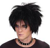 Rockers pruik zwart haar