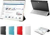 TriFold Smart Case voor de Samsung Galaxy Tab S 10.5 Tablet, Slimfit Handgemaakte Beschermhoes, zwart , merk i12Cover