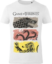 Game-of-Thrones-T-shirt-met-korte-mouw-wit-maat-XXL
