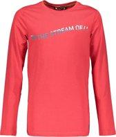 Bellaire Jongens T shirt lange mouw - Rood - Maat 122/128