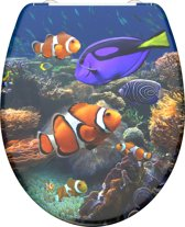 SCHÜTTE WC-Bril 82372 SEA LIFE - Duroplast - Soft Close - Afklikbaar - RVS-Scharnieren - Decor - 3-zijdige Print