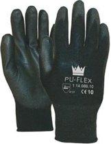 Pu-Flex Werkhandschoenen Zwart 11408600 - maat 8