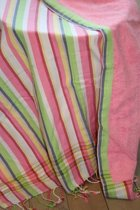 Kikoy strandlaken Furaha Stripes White - 96 x 170 cm