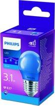 Philips - LED lamp - E27 - 3,1W - Blauw