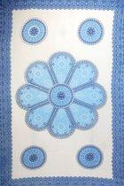 Luxe sarong hamamdoek wikkeljurk met pailletten 165 cm bij 115 cm uit Bali versierd met franjes