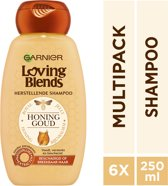 Garnier Loving Blends Honing Goud Shampoo - 6x250 ml – Voordeelverpakking