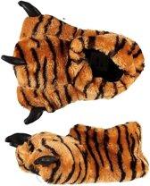 Sloffen/pantoffels tijger voor kinderen mt 31-32