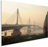 Schitterende brug over de rivier naar Dhaka Plexiglas 90x60 cm - Foto print op Glas (Plexiglas wanddecoratie)