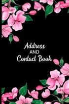Address and Contact Book: Organizer and Notes with Alphabetical Tabs Pink Floral